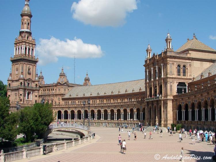 Séville la place d'Espagne